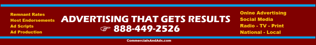 commercials and ads ADVERTISING HEADER